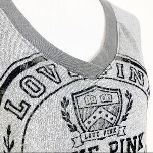 PINK Victoria's Secret Sweaters - Pink Victoria's Secret Sweater Gray Black V Neck